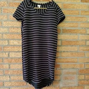 Merona Black & White Striped Dress